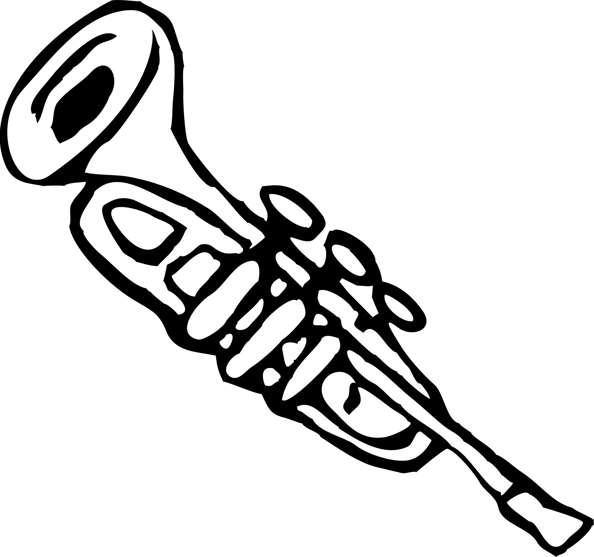 Trumpet Clip Art Black And White Clipart Panda Free