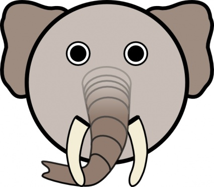 Elephant Head Clipart | Clipart Panda - Free Clipart Images