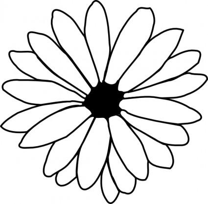 flower outline clip art clipart panda free clipart images rh clipartpanda com Black Outline of a Flower white flower outline clipart