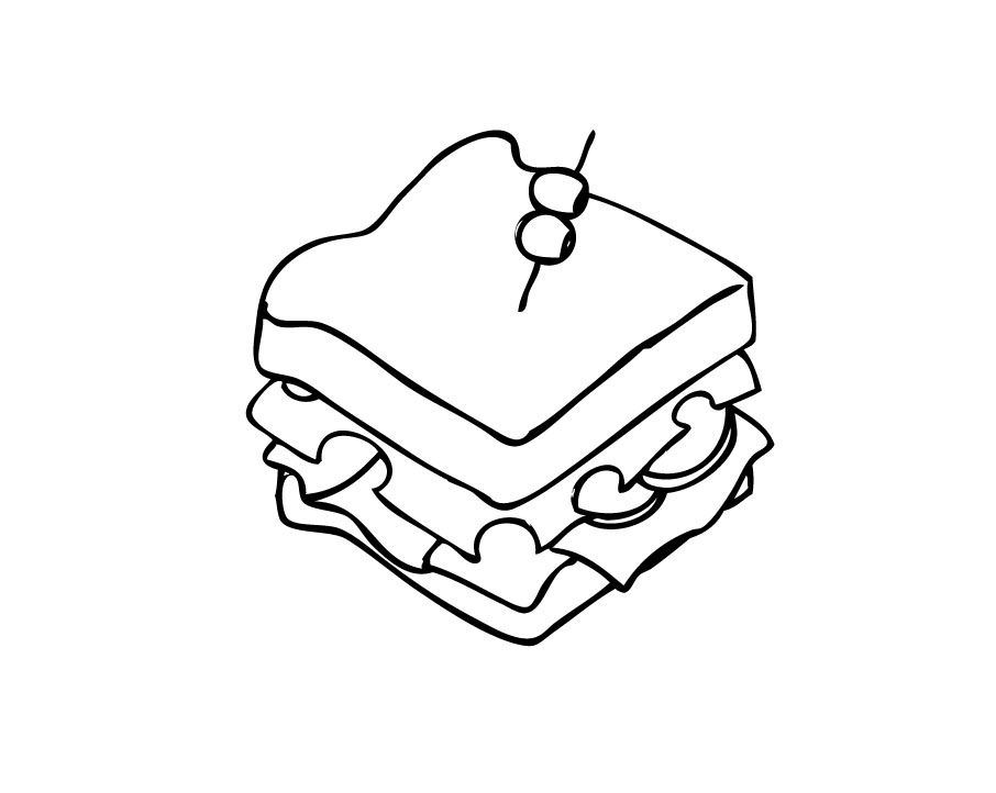 Tumblr Sandwich Drawing | Clipart Panda - Free Clipart Images