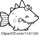 Black and white angry fish clipart panda free clipart for Tuna fish coloring page