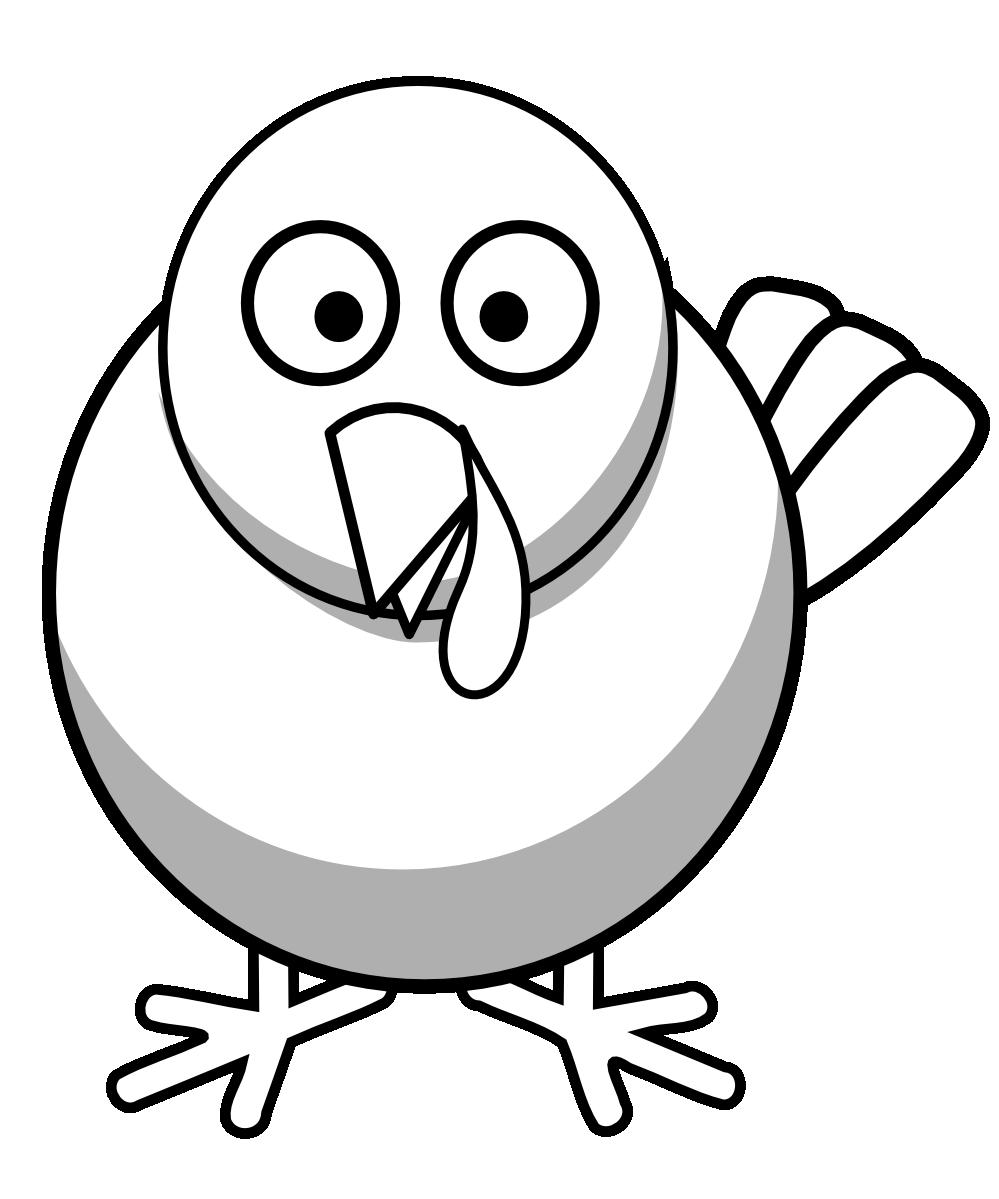 Turkey Clipart Black And White | Clipart Panda - Free ...