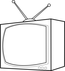 Tv Clip Art Black And White