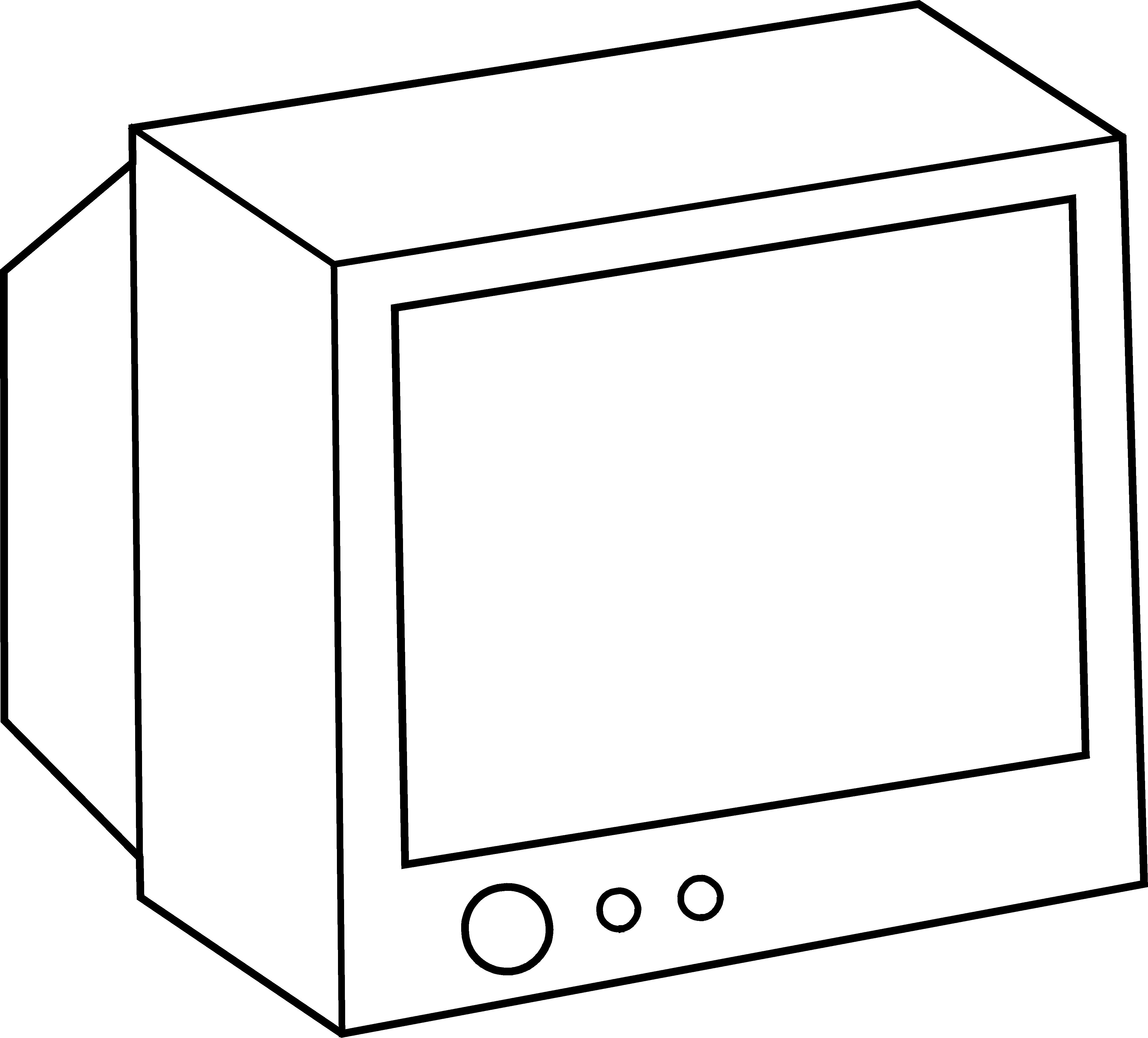 Tv Screen Clipart Black And White | Clipart Panda - Free ...
