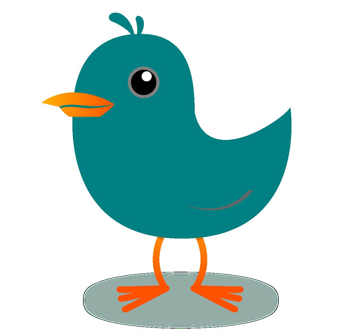 Twitter tweet. Bird teal clipart panda