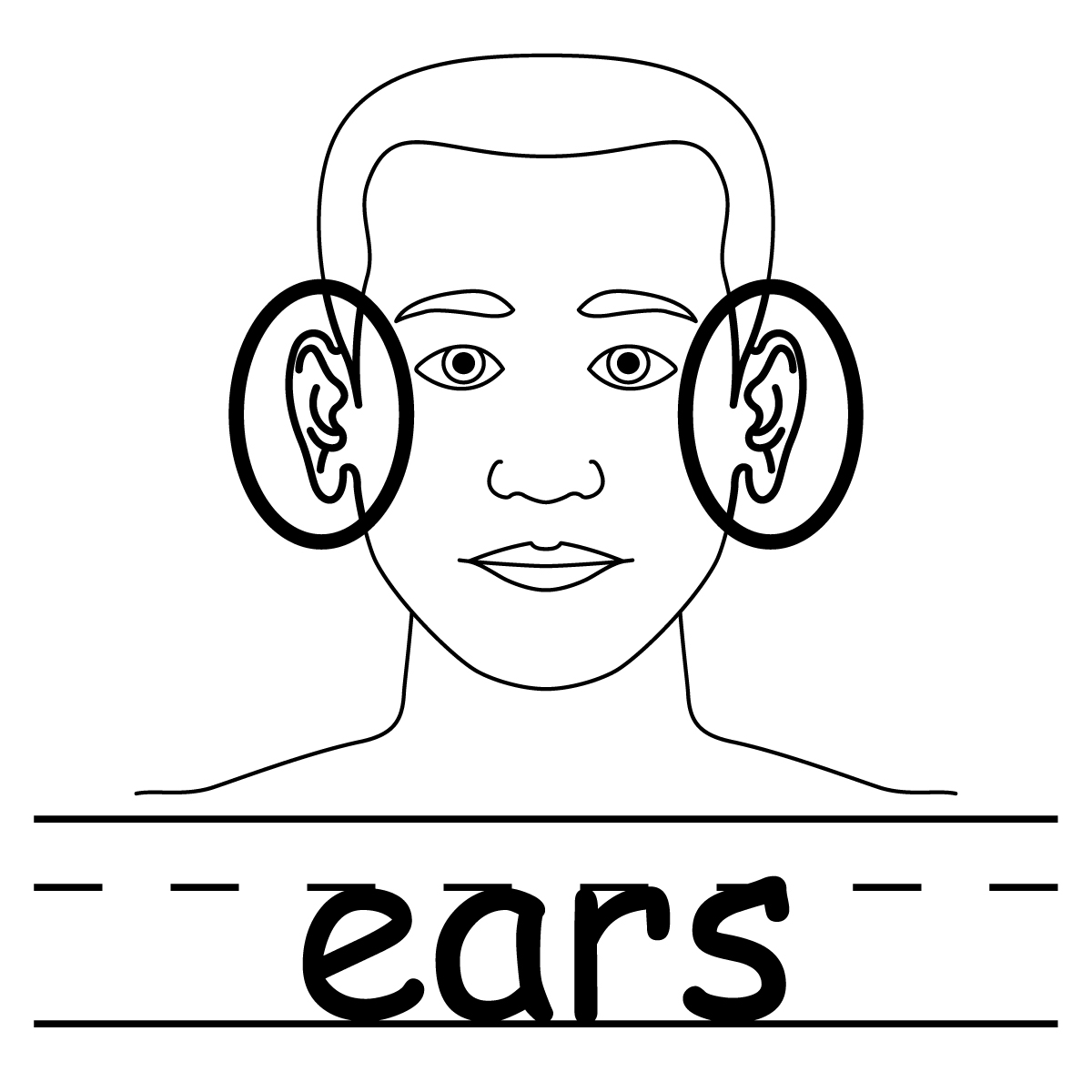 free coloring pages of listening ears