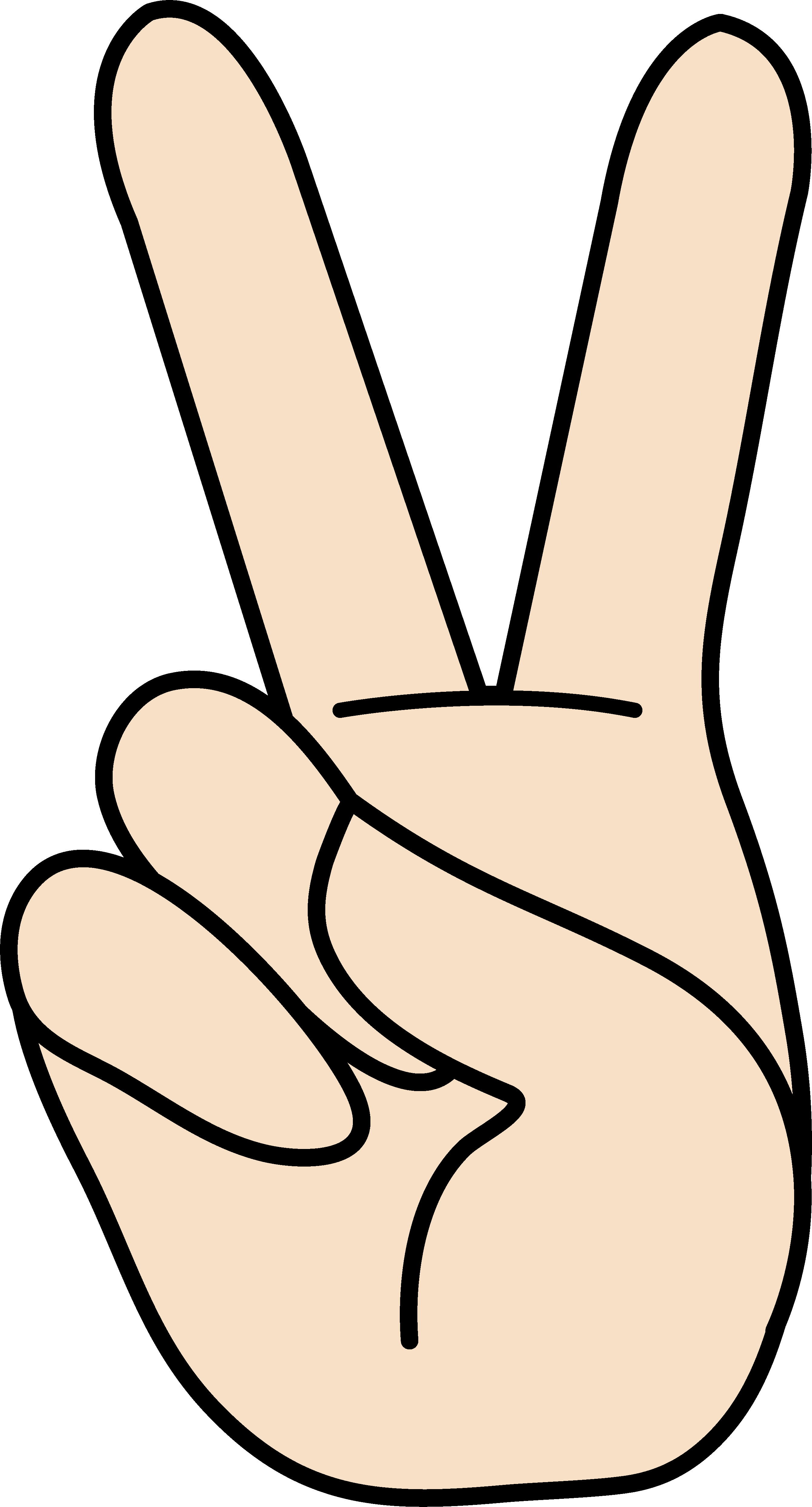 two%20finger%20clipart
