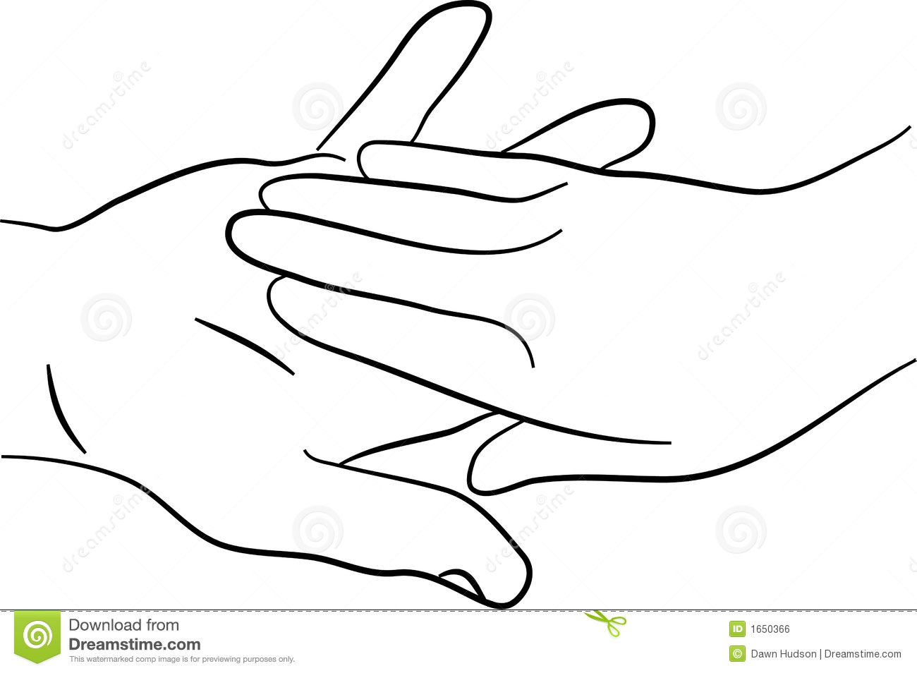 two hands clipart