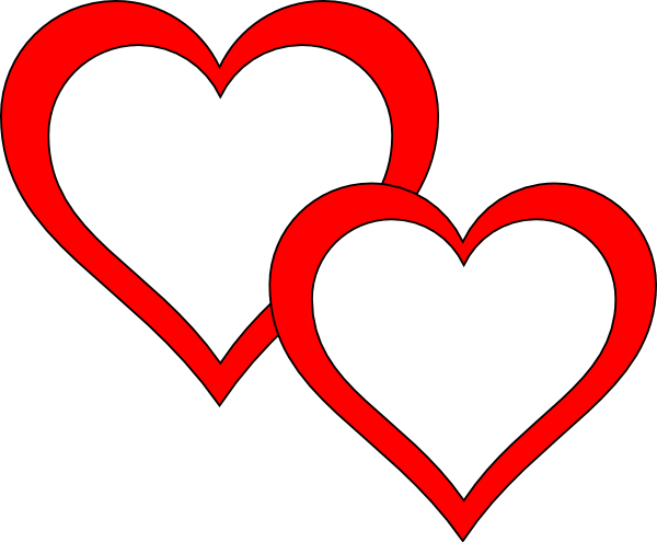Two Hearts Clipart | Clipart Panda - Free Clipart Images