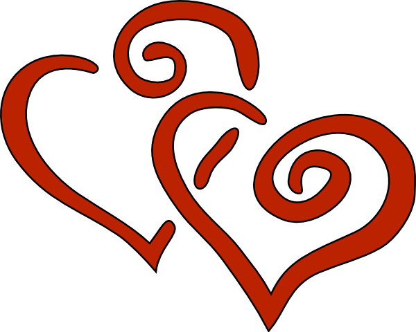 two%20hearts%20clipart%20black%20and%20white