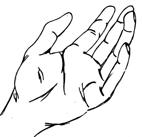 Line Art Help : Two open hands clipart panda free images