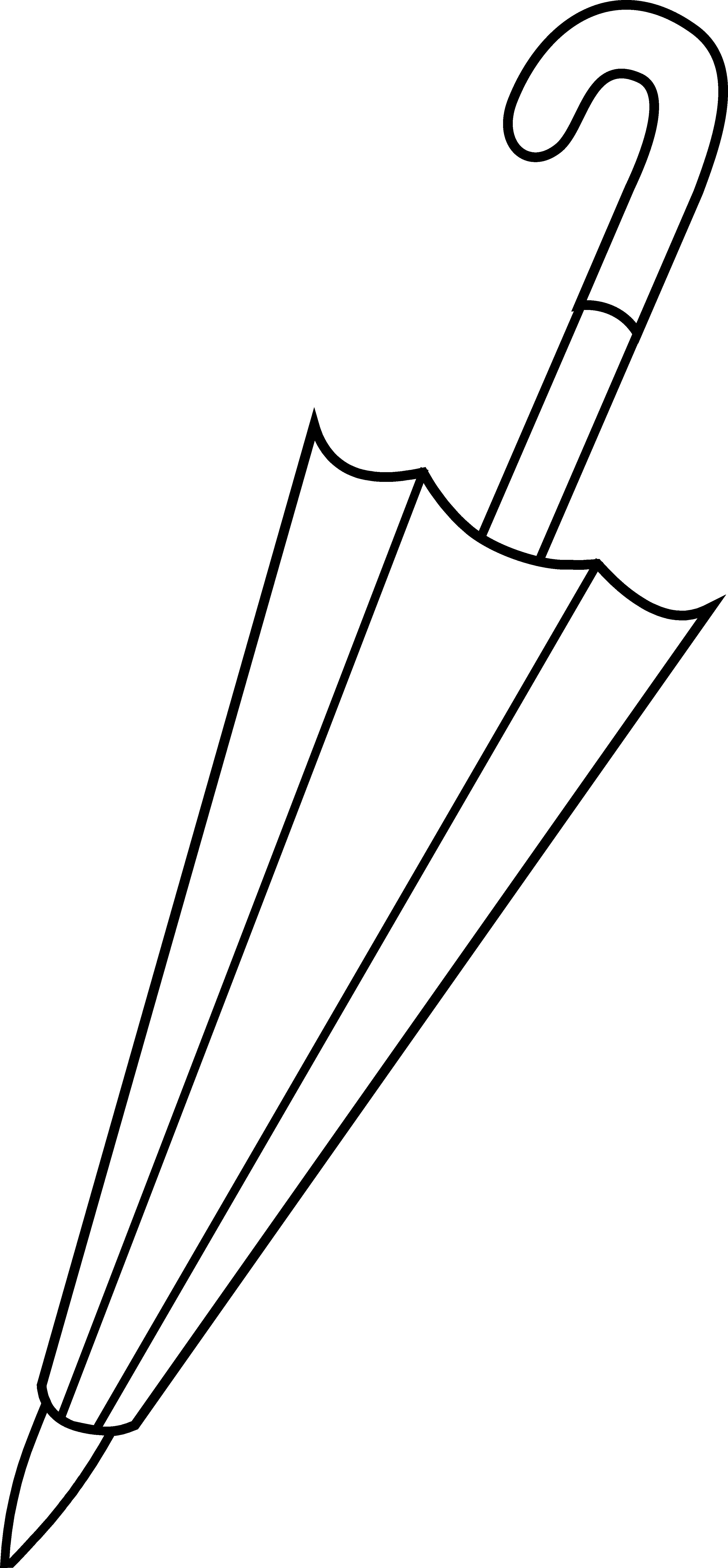Line Art Umbrella : Umbrella clipart black and white panda free