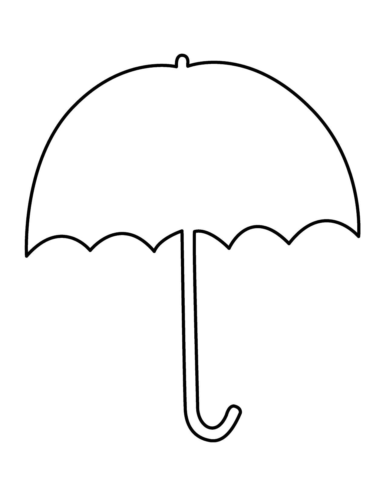 Umbrella black and white clipart
