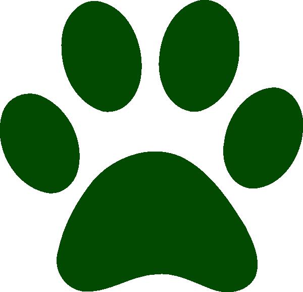 Green Paw Print Clip Art | Clipart Panda - Free Clipart Images