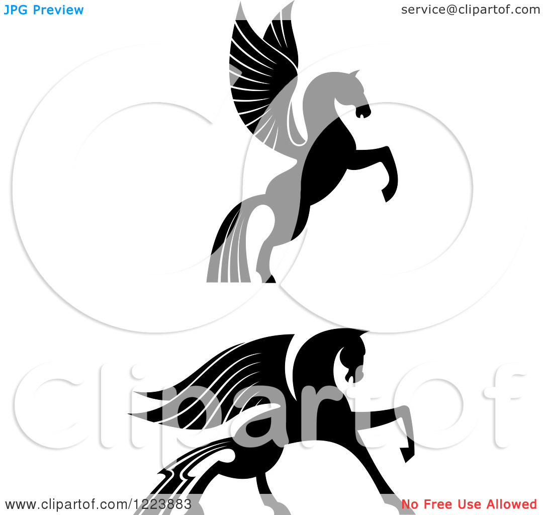 pegasus clipart black and white clipart panda free clipart images
