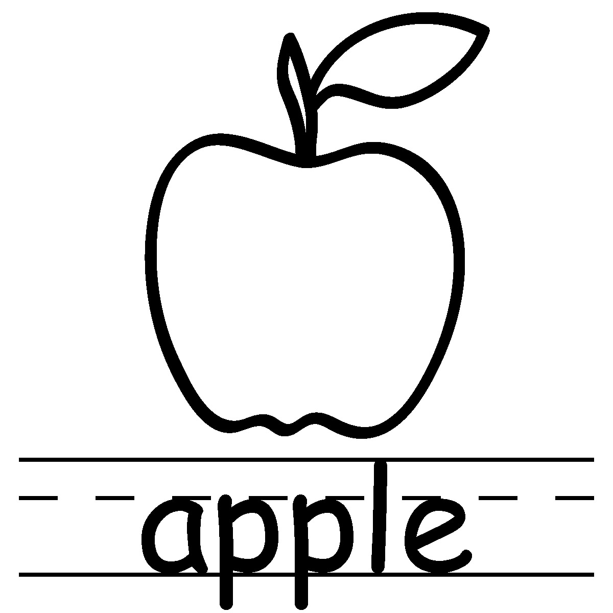 ... Apple Clipart Black And White | Clipart Panda - Free Clipart Images