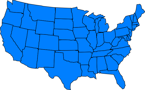 clip art map united states - photo #3