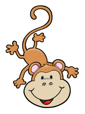 upside down hanging monkey clipart clipart panda free clipart images rh clipartpanda com monkey hanging from tree clipart Cartoon Monkey Clip Art