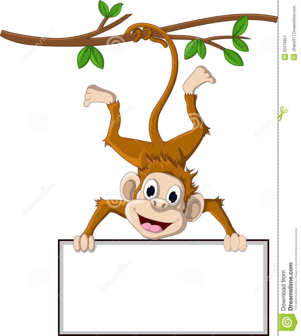 clipart monkey hanging from tree - photo #19