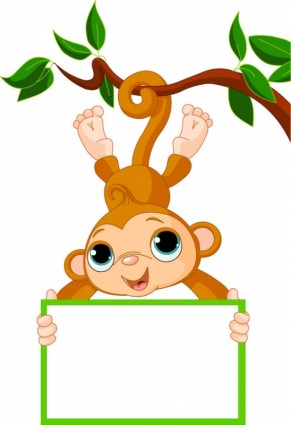 upside down hanging monkey clipart monkey_cartoon_image_02_vector_181266