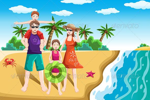 Family Beach Vacation Clipart | Clipart Panda - Free ...
