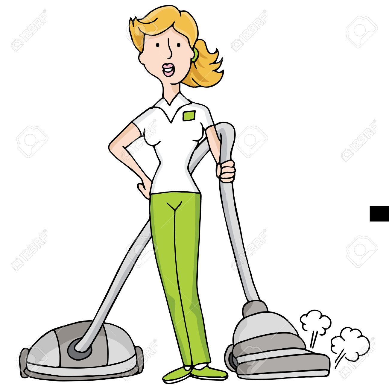 cleaning lady clip art...
