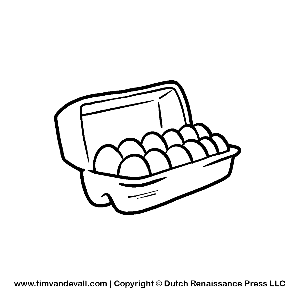 Empty Egg Carton Clipart Black And White | Clipart Panda ...