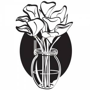 Vase Clipart Black And White   Clipart Panda - Free ...