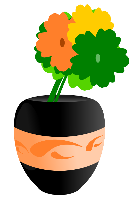 Flowers In A Vase Clipart | Clipart Panda - Free Clipart Images