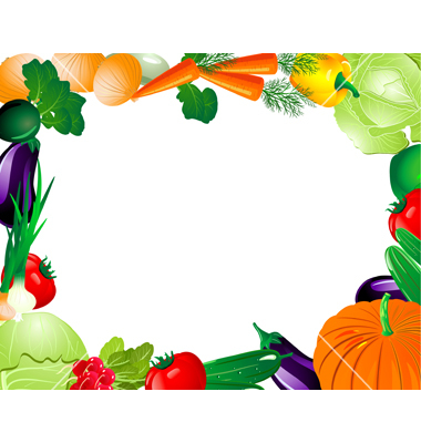 gallery vegetables border clipart