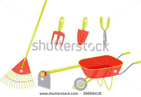 Cartoon gardening pictures clipart panda free clipart for Gardening tools cartoon