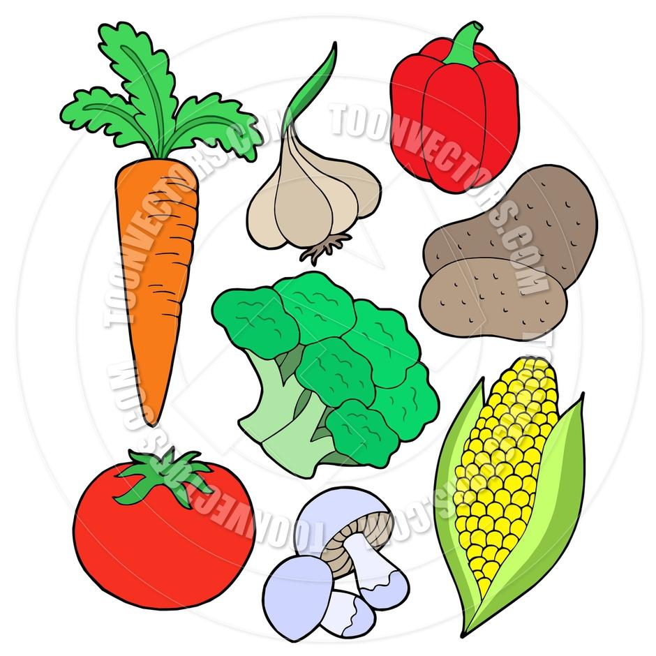 clip art cartoon vegetables - photo #44