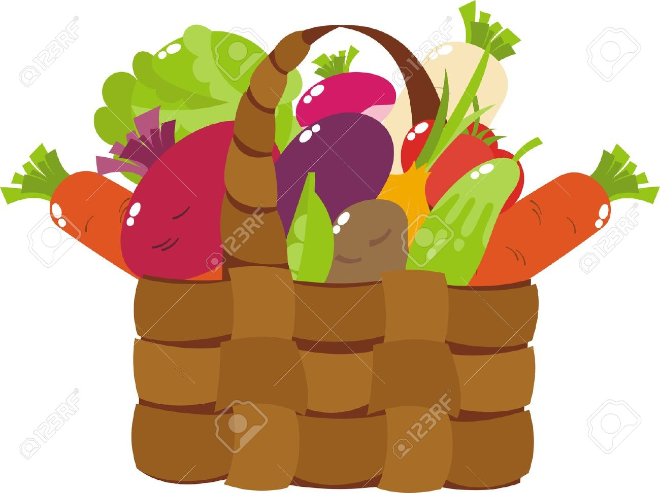 Basket Of Vegetables Clipart : With vegetables clipart panda free