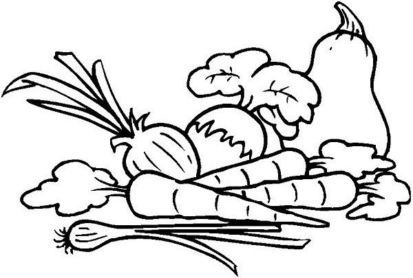 Vegetables Coloring Pictures