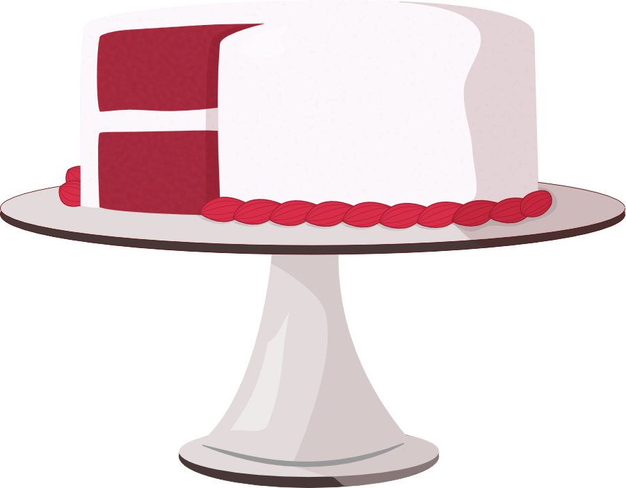 Red Velvet Cake Clipart