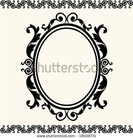 Vertical Oval Frame Clipart Antique Oval Frame Sil...