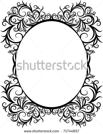 Vertical Oval Frame Clipart Oval Picture Frame Vec...