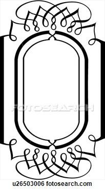 Vertical Oval Frame Clipart Clip Art - Vertical Ov...