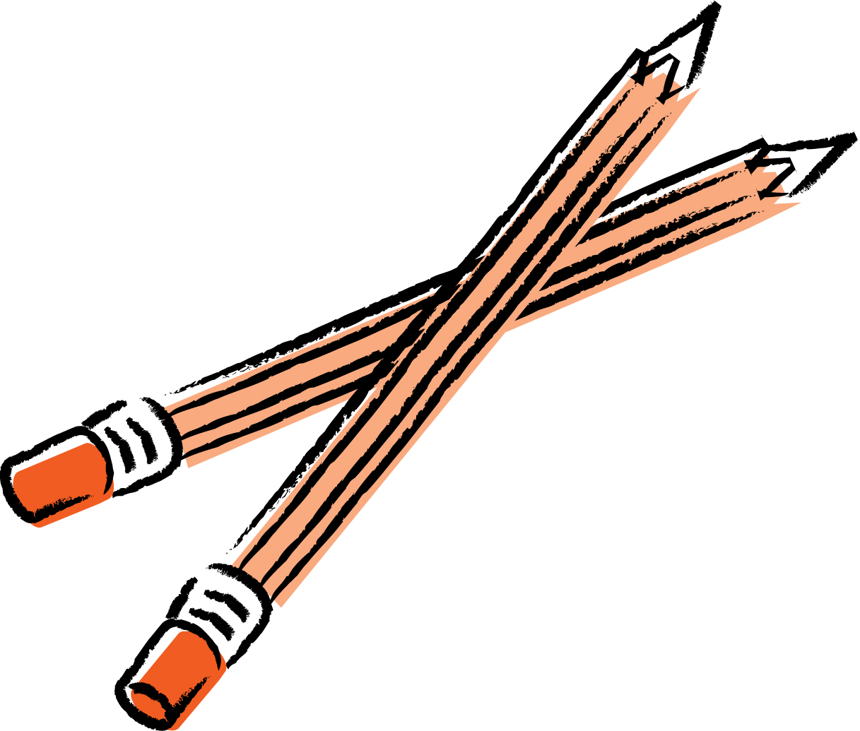 Pencil writing clipart panda free images