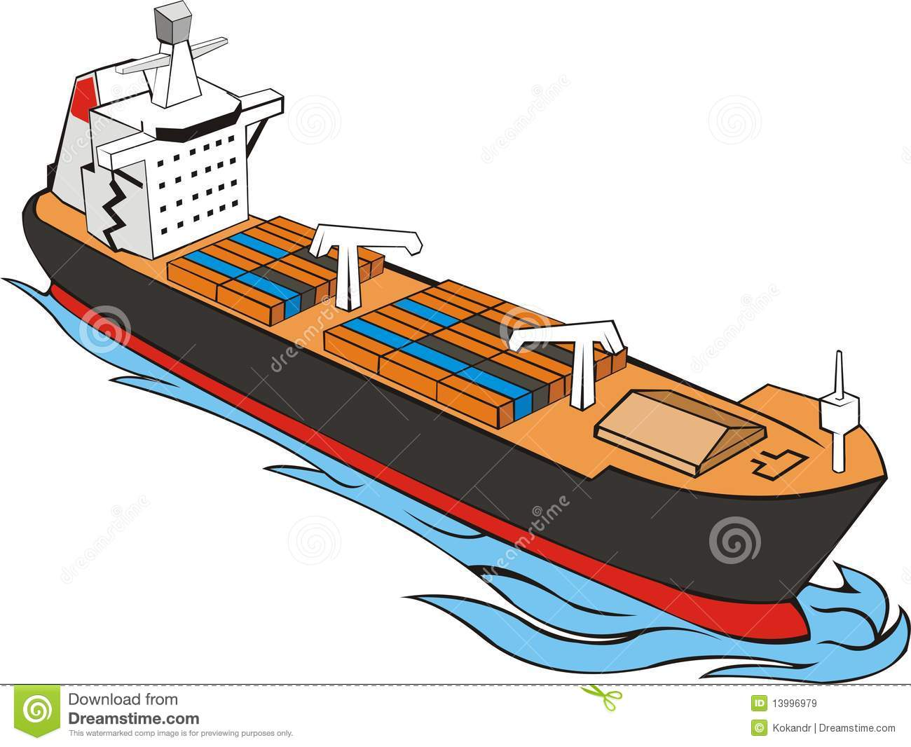 clipart container ship - photo #12