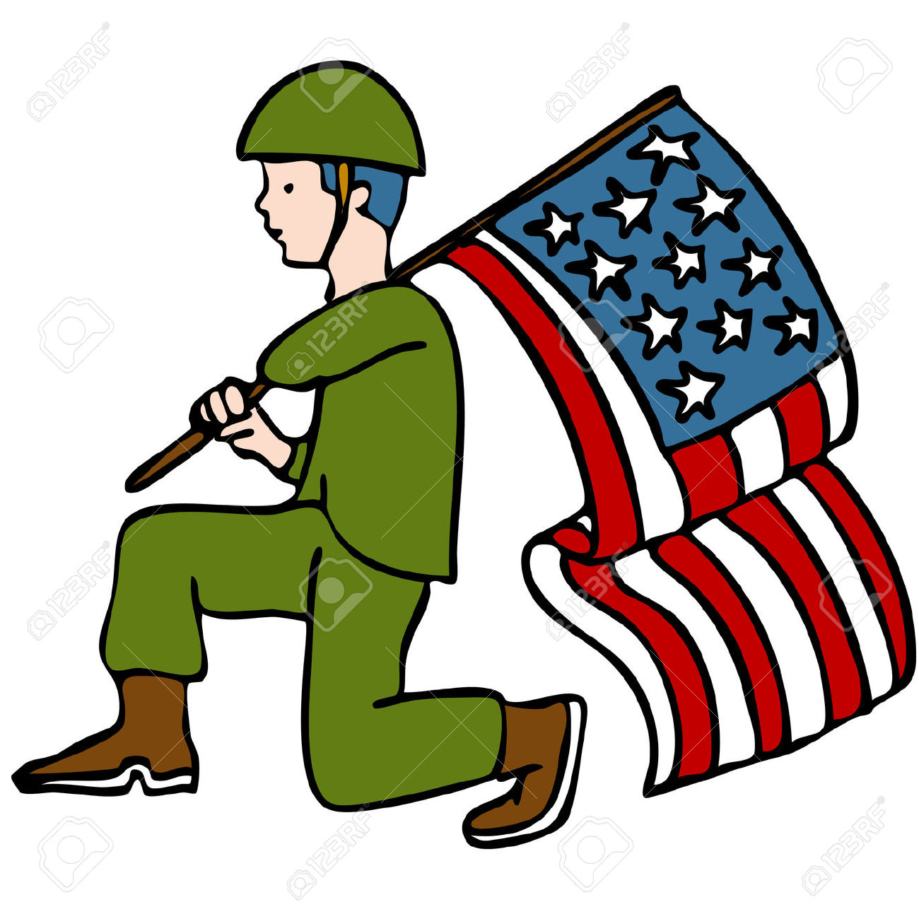 veteran soldier: An image of a | Clipart Panda - Free Clipart Images