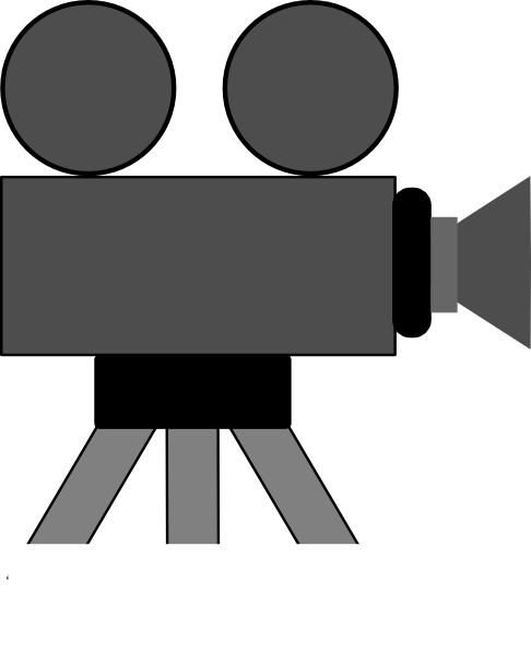 Old Filming Camera Clip Art