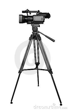 Video Camera On Tripod Clipart