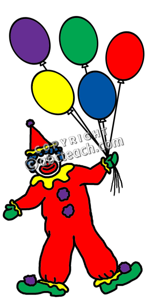 clip art clowns with balloons - photo #48