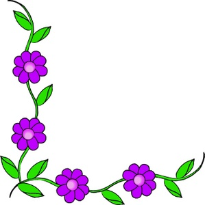 Purple Flower Border Clip Art Clipart Panda Free
