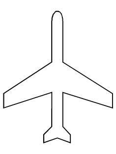 Vintage airplane coloring page clipart panda free for Airplane cut out template