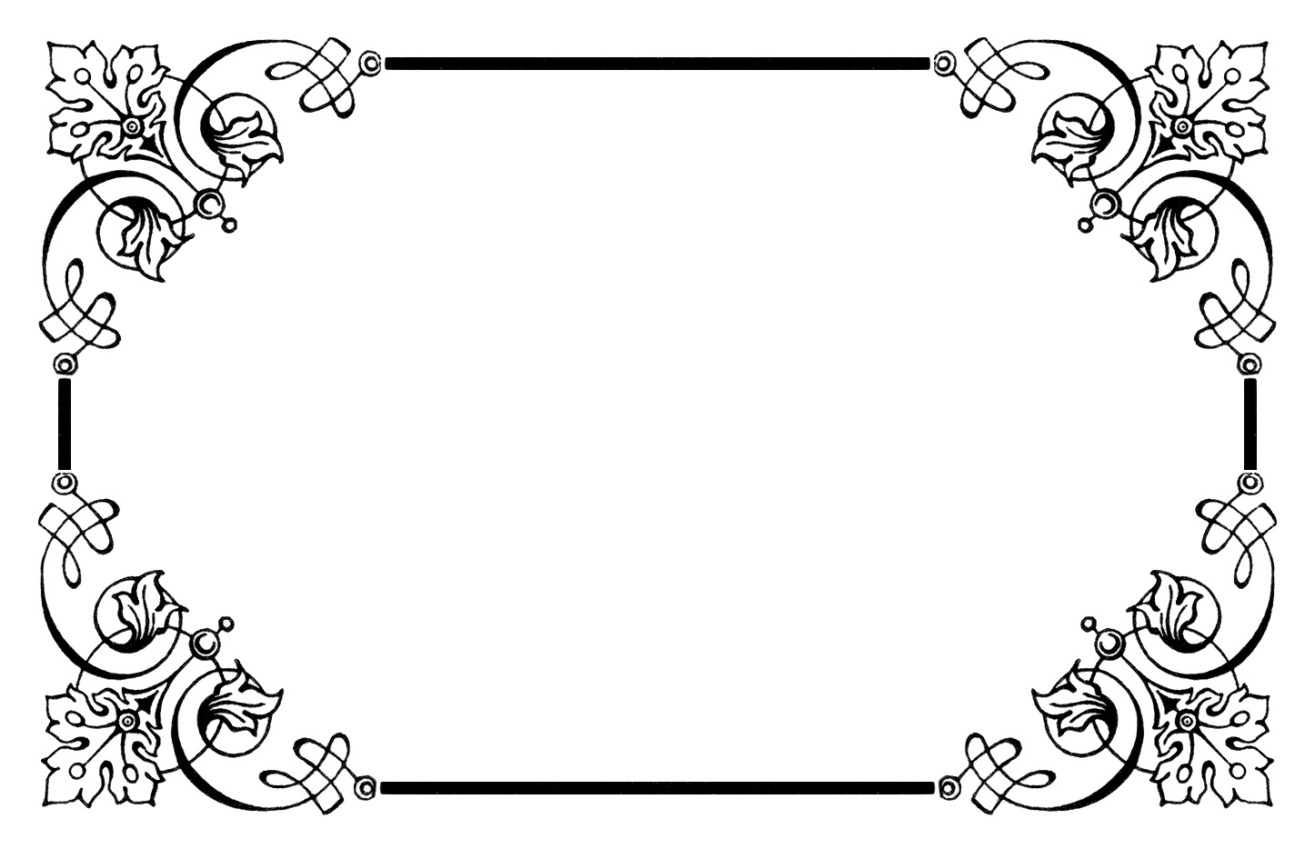 Fancy Frame Clip Art Black And White | Clipart Panda
