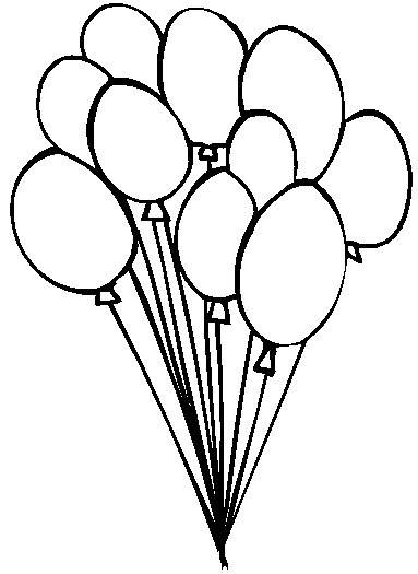 Vintage Hot Air Balloon Coloring Page Clipart Panda
