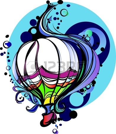 Colorful Hot Air Balloon Drawing | Clipart Panda - Free Clipart Images