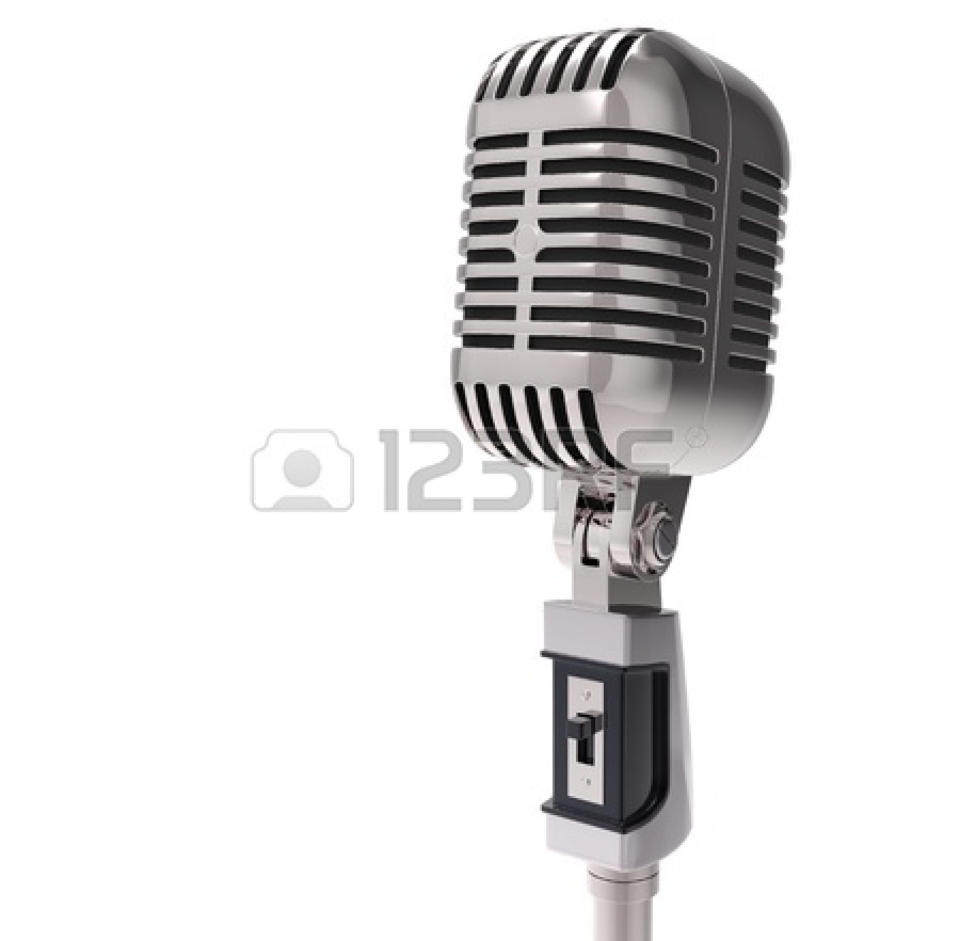 Vintage Microphone Black And White | Clipart Panda - Free ...